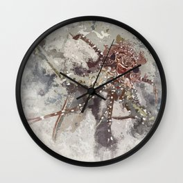 Lobster Watercolor Wall Clock