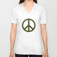 army V-neck T-shirts featuring ARMY by Sophie