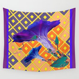 Gold & Purple Garden Floral Art Wall Tapestry