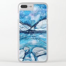 Magical Night Sky in the Rockies Clear iPhone Case
