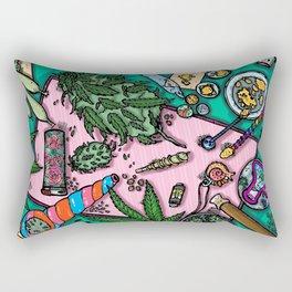 Cannabis Altar I Rectangular Pillow