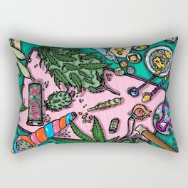 Cannabis Altar I Rectangular Pillow