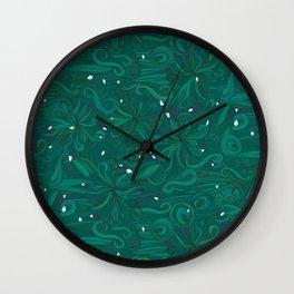 icy green ocean Wall Clock