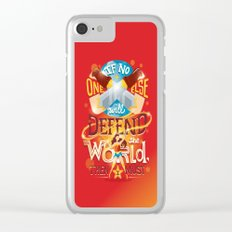 Defend the world Clear iPhone Case
