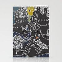 kieren walker Stationery Cards featuring Walker by inktheboot