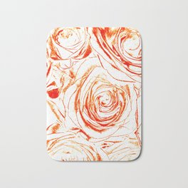 Roses // Wedding Flowers, Abtract Minimalist Art Bath Mat