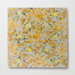 Sunflower seeds on canvas #1903 Metal Print