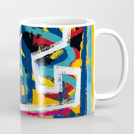 Yellow Life Graffiti Abstract Street Art by Emmanuel Signorino© Coffee Mug