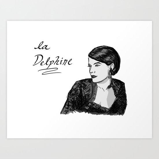 Delphine Seyrig Portrait Art Print