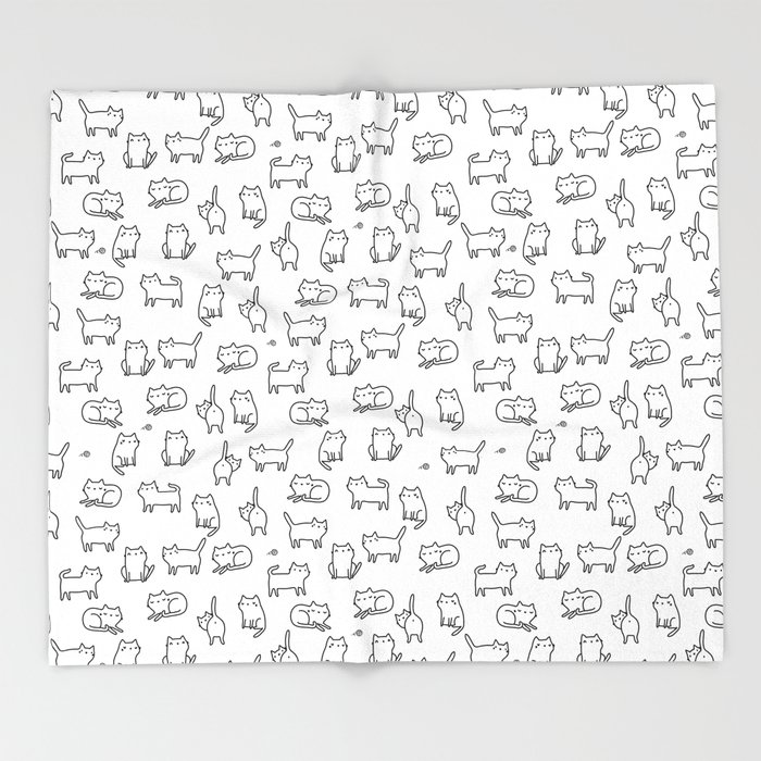Cats. Cats. Cats Throw Blanket