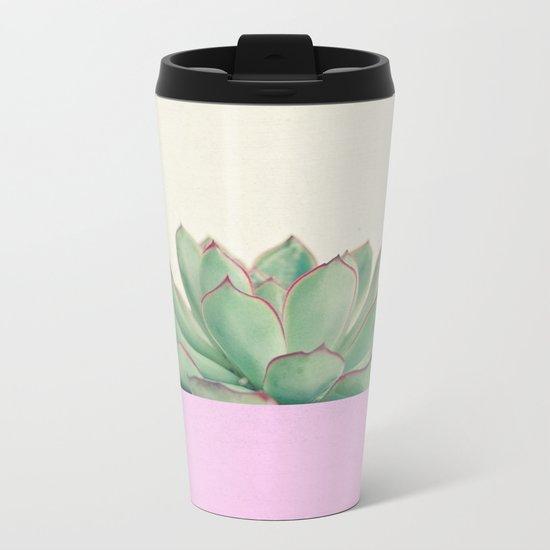 Succulent Dip Metal Travel Mug