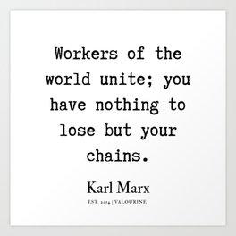 62  | Karl Marx Quotes | 190817 Art Print