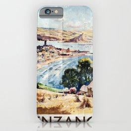 vintage poster Penzance iPhone Case