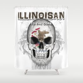 To The Core Collection: Illinois Shower Curtain