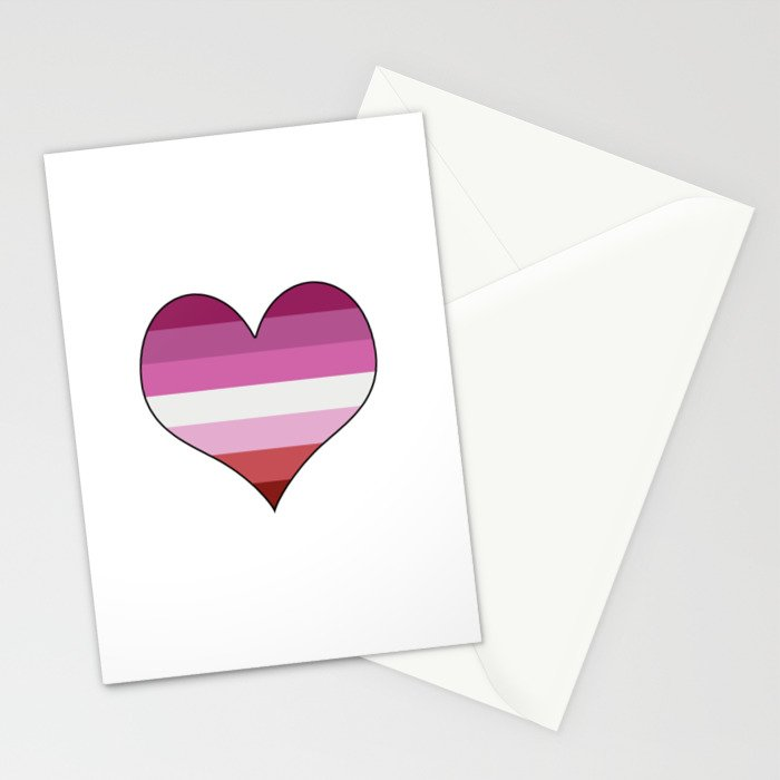 Lesbian Heart Stationery Cards