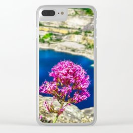 Pink Flower. Clear iPhone Case