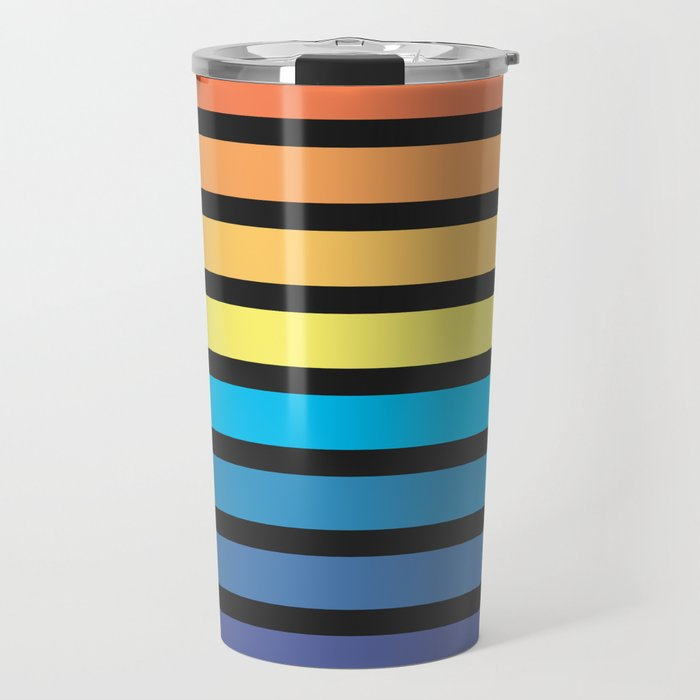 Stripe Sunset Travel Mug