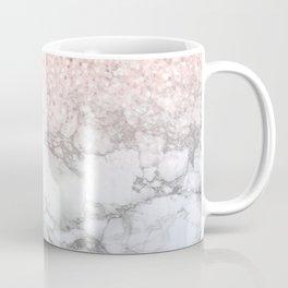 Pretty Rosegold Marble Sparkle Coffee Mug