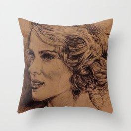SCARLETT JOHANSON Throw Pillow