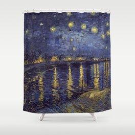 Vincent Van Gogh Starry Night Over The Rhone Duschvorhang