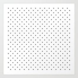 Little Dots Black on White Art Print