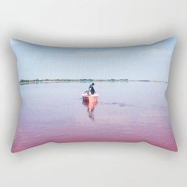 The Pink Lake Print Rectangular Pillow