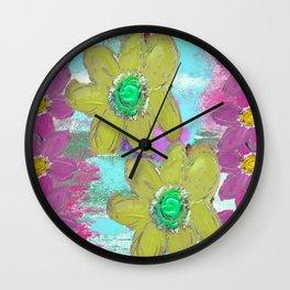 FLORAL MASHUP Wall Clock