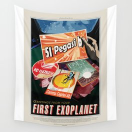 51 Pegasi b - NASA Space Travel Poster Wall Tapestry