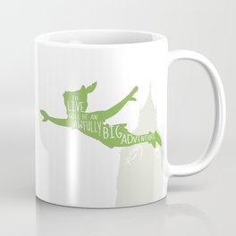 To Live will Be an Awfully Big Adventure - Peter Pan Art Print Coffee Mug