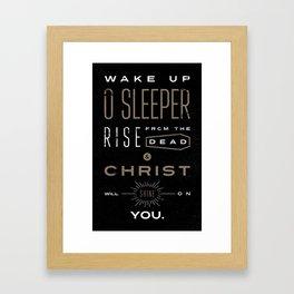 Wake Up O Sleeper Ephesians Bible Verse Typography Framed Art Print