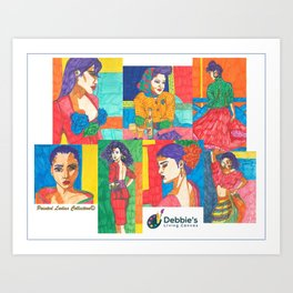 Painted Ladies Collection, Group I Art Print