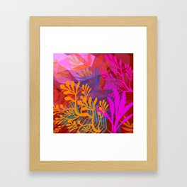 Jungle Jam Reds Framed Art Print