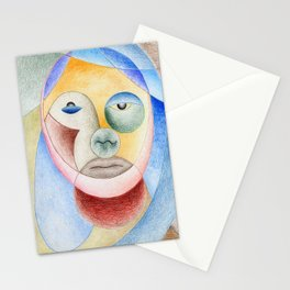Face with circles Stationery Cards