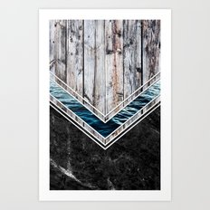 Striped Materials of Nature II Art Print