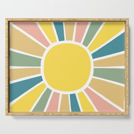 Retro Sunshine Serving Tray