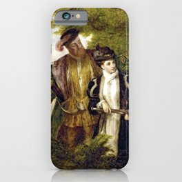 Tudor Romance - Henry VIII and Anne Boleyn hunting iPhone Case