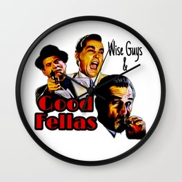 Goodfellas Wiseguys Gangster Mafia Mobster American Movie Painting Wall Clock