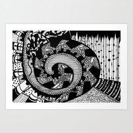 Wheeling Around Art Print