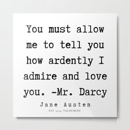 56   | Jane Austen Quotes | 190722 Metal Print