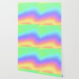 Holographic Foil Colorful Gradient Pattern Wallpaper