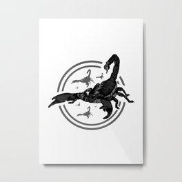 Scorpion GREY 2 Metal Print