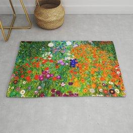 """Gustav Klimt """" Farmer's Garden """" Rug"""