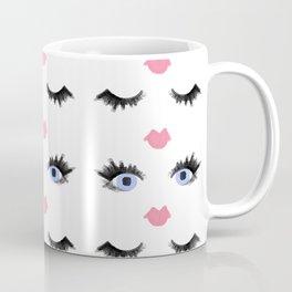 The Eyes Have It - Blue Eyes Eyelash Pattern Coffee Mug