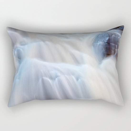 Chutes du Diable Waterfall Rectangular Pillow