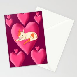 valentines day kitten Stationery Cards