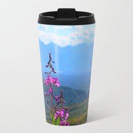 Fireweed Overlooking Mat-Su Valley, Alaska Travel Mug