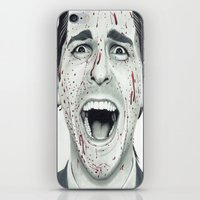 american psycho iPhone & iPod Skins featuring American Psycho by TYP Portraits