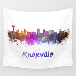 Knoxville skyline in watercolor Wall Tapestry