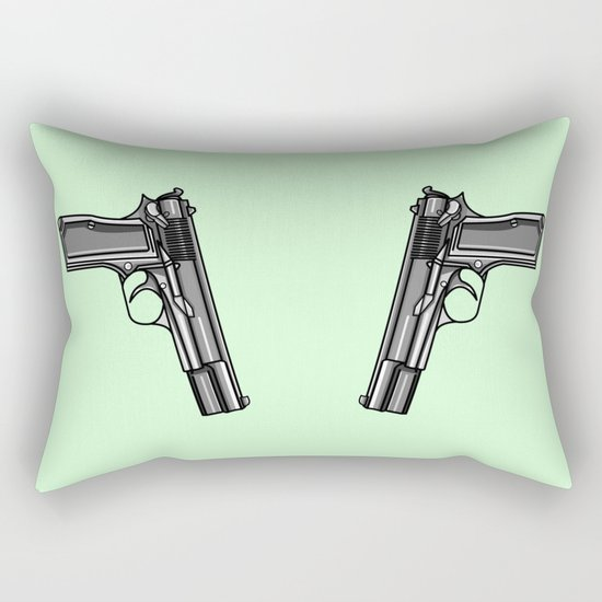 Hip Tattoo Pistols Rectangular Pillow