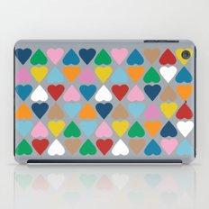 Diamond Hearts on Grey iPad Case